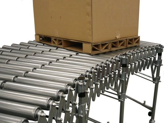wide flexible roller conveyor