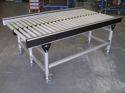 Striaght gravity roller conveyors
