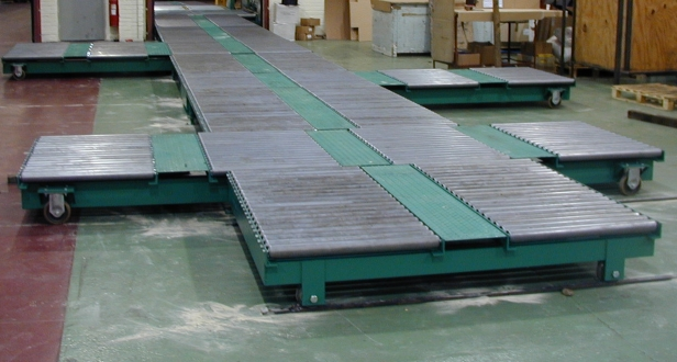 pallet conveyor system mobile