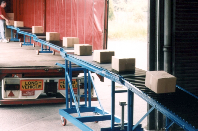 high level container unloading conveyor